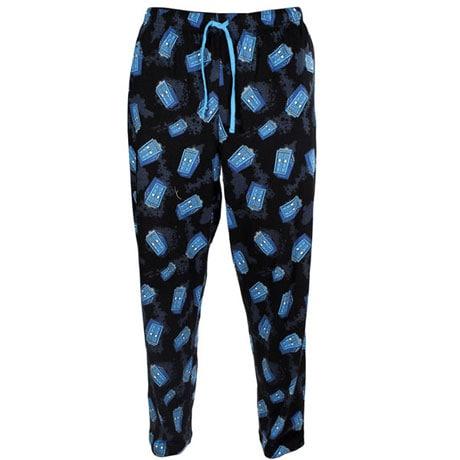 Doctor Who Cartoon Tardis All Over Pajama Pants
