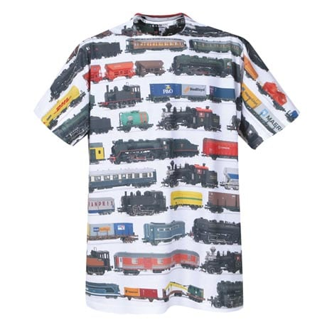 Trains Print T-Shirt - Sublimated All-Over Print