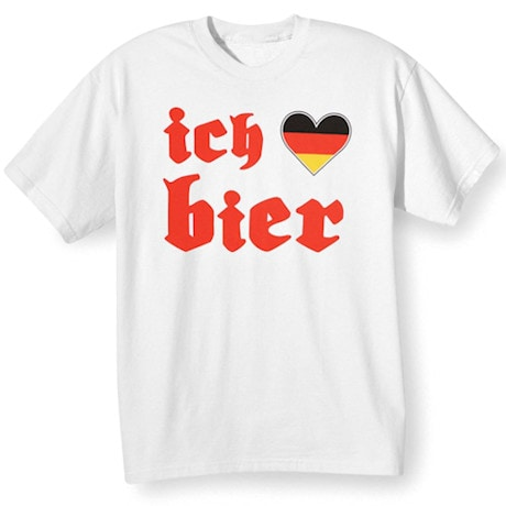 German Oktoberfest T-Shirts -Ich Heart Bier