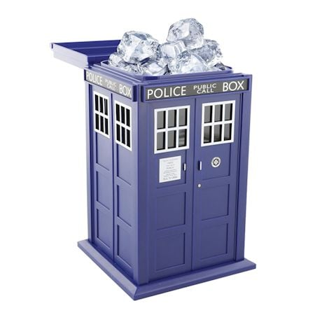 Doctor Who TARDIS Ice Bucket and Shaped Silicone Ice Cube Tray Set
