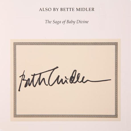 "Bette Midler ""A View From A Broad"" Signed Bookplate Autographed Copy Hardcover Book"