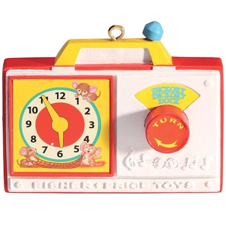 Fisher-Price Retro Toy Ornaments-Hickory Dickory Dock