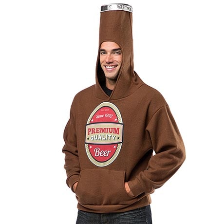 Beer Bottle Hooded Sweatshirt