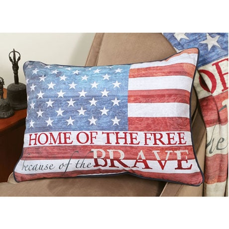 Home of The Free Fleece Pillow