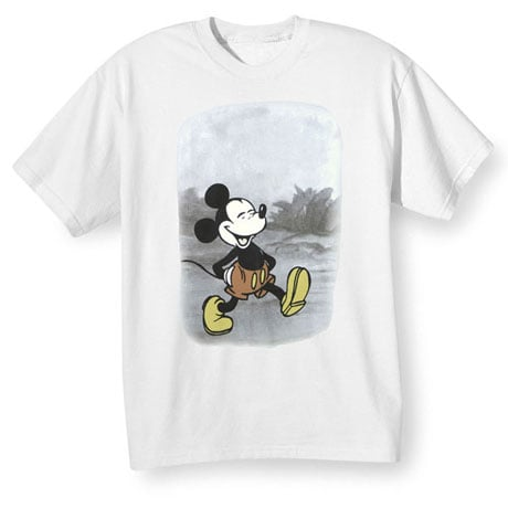 Mickey Mouse Trail T-Shirt in Cotton