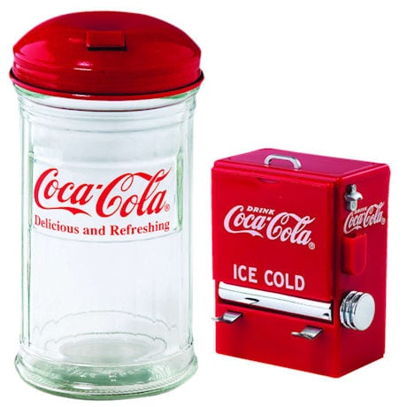 Retro Coca-Cola Kitchen Gift Set - Coke Diner Sugar and Toothpick Dispensers