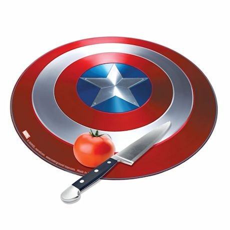Marvel Avengers Captiain America Civil War Shield Round Tempered Glass Cutting Board