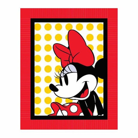 Minnie Mouse Red Bow No-Sew Fleece Kit
