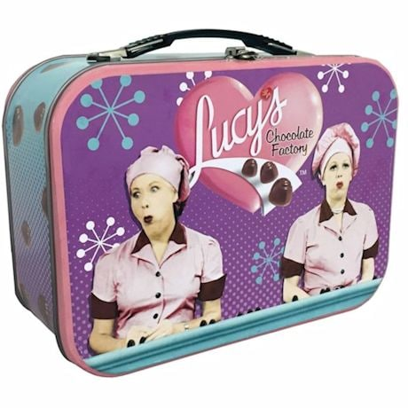 I Love Lucy Chocolate Factory Tin Tote Metal Lunch Box
