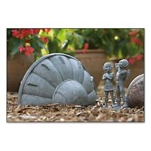 Spaceship and Aliens Garden Sculpture