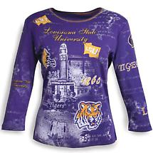 Louisiana State 3/4 Sleeve Top