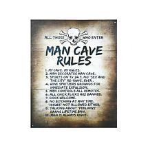 Man Cave Rules Metal Sign