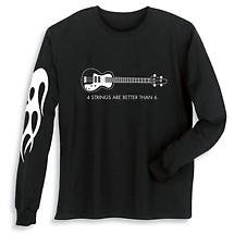 Long Sleeve Music Shirt - Bass Guitar
