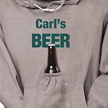 Personalized Beer Pouch Hoodie