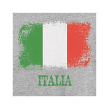Italia (Italy) Antiqued Flag Shirts