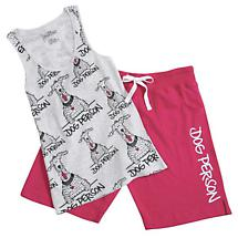 Dog Person Tank And Bermuda Shorts Set