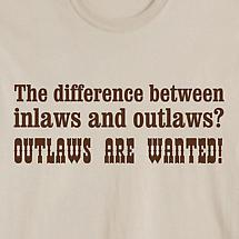 The Difference Between Inlaws And Outlaws Shirt