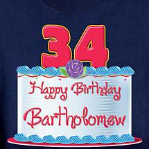Personalized Happy Birthday Shirt