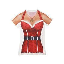 Faux Real Sexy Santa Ladies T-Shirt