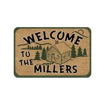 Personalized Welcome To The Cabin Door Mat