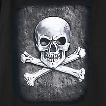 Stone Skull And Crossbones T-Shirt