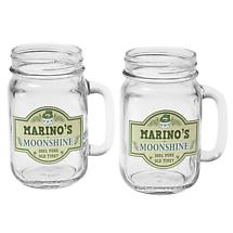 Personalized Moonshine Mason Jars Set of 2 Glasses