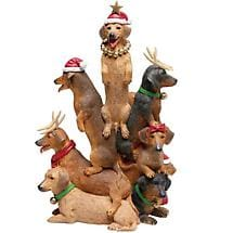 Dachshund Christmas Club Figurine