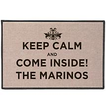 Keep Calm And Come Inside: Personalized Doormat