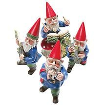 Garden Gnome Musicians Quartet Set of 4