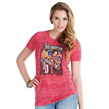 Jimi Hendrix Burn-Out Ladies T-Shirt