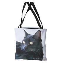 Cat Tote Bag - Black