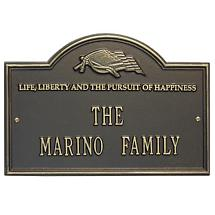 American Pride Personalized Welcome Plaque