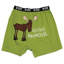 Gluteus Maximoose Funny Boxers in Cotton with Elastic Waist