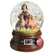 Musical Water Globe Featuring Dachshunds and Stars
