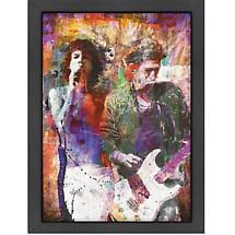 Rolling Stones Digital Print with Wood Frame and Plexiglass Front