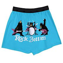 Rock Botton Funny Boxers with Bear Band in Cotton with Elastic Waist