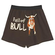 Full of Bull Funny Boxers in Cotton with Elastic Waist