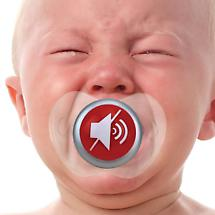 Funny Face Pacifiers - Mute Button