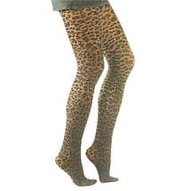 Animal Print Tights - Leopard