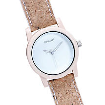 Sprout® Cork Watches - White (Ladies)