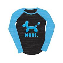 Juniors Baseball  T-Shirt - Balloon Dog