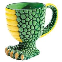 Dragon Footed Coffee Mug in 14 Ounce Porcelain
