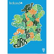 Hand Lettered Typograhic Heritage Framed Prints - Ireland