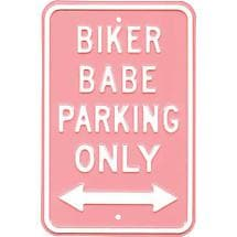 Biker Babe Parking Sign