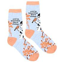 Vintage-Style Art Socks - You're Beautiful