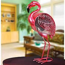 "Flamingo Figurine Fan by Deco Breeze 19 1/4"" Tall"