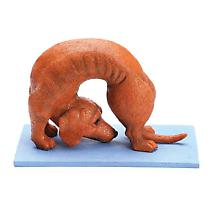 Yoga Dachshund Figures- Bow Pose