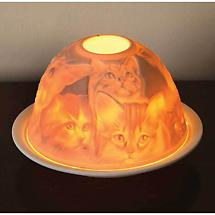 Porcelain Bisque Cats Nightlight