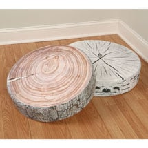 Tree Trunk Log Cushions- White Birch