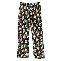 Sugar Skull Lounge Pants Day of the Dead in Cotton